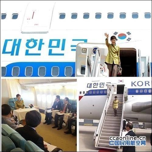 """日韩两国领导人专机对比,日方专机显""""豪华"""""""