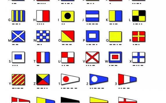 帆船航海必学的摩尔斯码、信号旗与竞赛信号