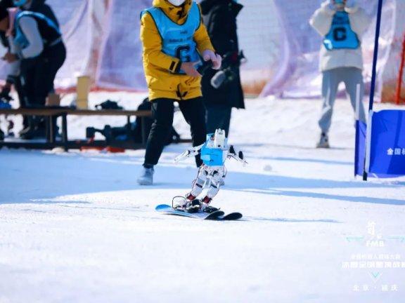 据说这个滑雪机器人今晚要上电视!